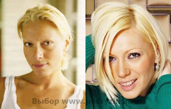 Ирина Юдина (Аврора) без макияжа