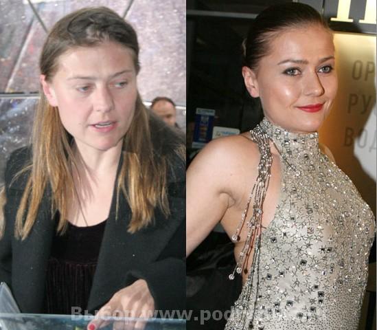 Мария Голубкина без макияжа
