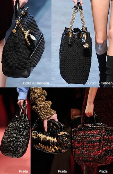 Модные женские сумки из трикотажа.