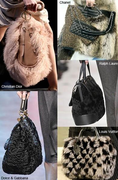 Модные женские сумки из меха, кожи.