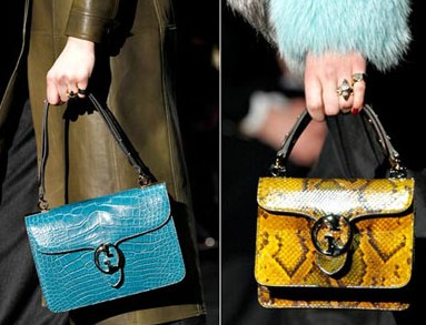 Обувь сумки и макияж с показа Gucci осень-зима 2011-12.