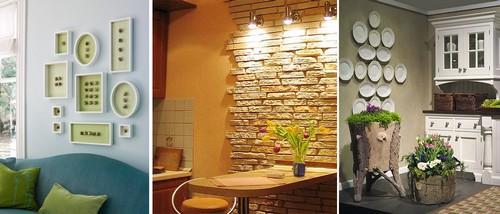 Идеи оформления стен кухни фото
