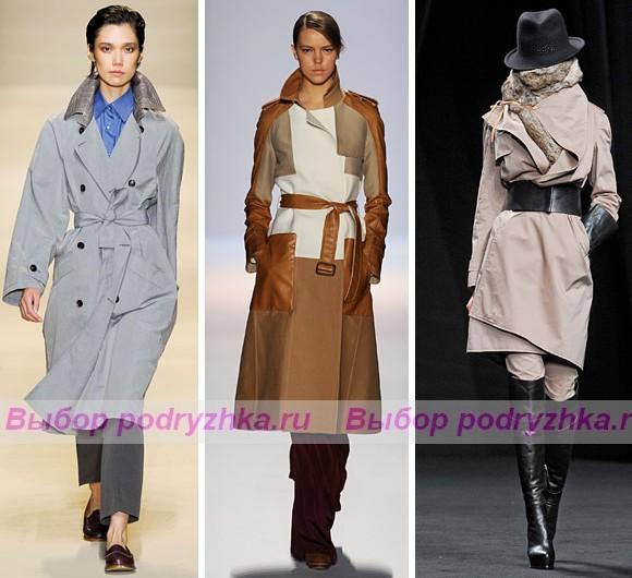 Мода модные тренчи осень зима 2012 2013