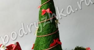 Декоративная елочка: поделки своими руками