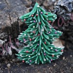 Новогодняя бижутерия — брошь «Елка» из полимерной глины