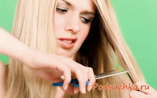 Как подстричь кончики волос самой себе - 3 способа, видео уроки