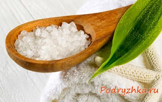 Домашний скраб из соли