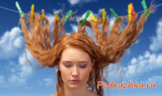 Волосы на прищепках