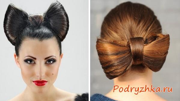 Как сделать прическу бант из волос - 3 варианта, фото
